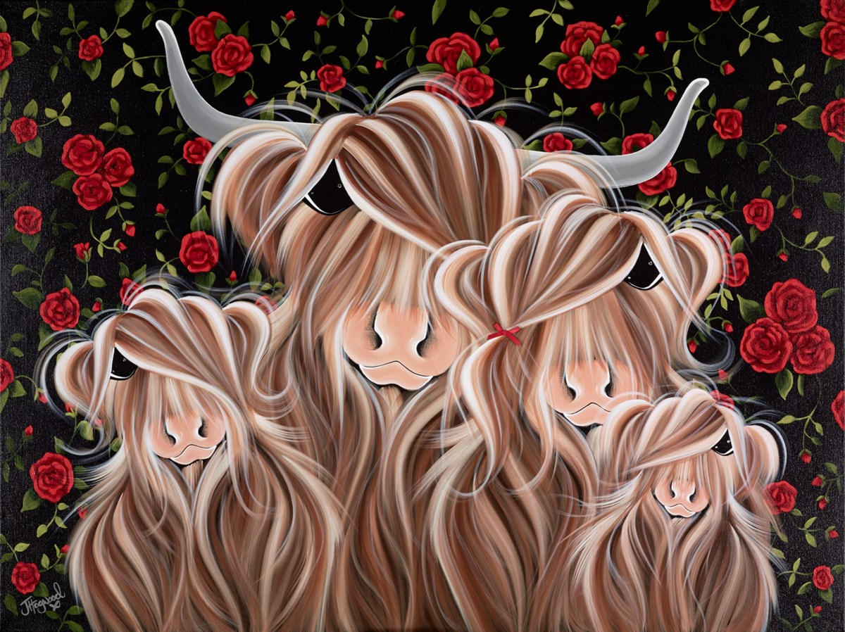 The Mc Roses by jennifer hogwood -  sized 40x30 inches. Available from Whitewall Galleries